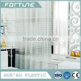 100% Polyester Custom Printed clear pvc shower curtain transparent pvc curtains plastic film for shower curtain