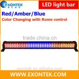 Wholesale offroad Jeep truck accessories RGB color change LED light bar Red Amber Blue with remote control 180W 240W 288W 300W