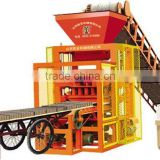 QTJ4-26A vibration electric concrete hollow brick making machine Tanzania best selling product price