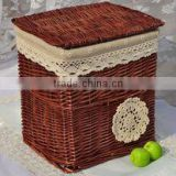 Bamboo basket manual small basket/small fruit tray basket of bamboo weaving crafts