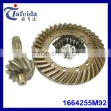 Tractor Gear for Massey Ferguson, MF Tractor Parts, Rear Differential Parts, 1664255M92, 11T / 38T, Crown Wheel & Pinion Set