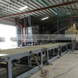 Large capacity particle board making machine/cross cutting saw