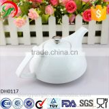 bulk supply wholesale cheap custom logo Euro style white porcelain tea pot, cheap ceramic teapot