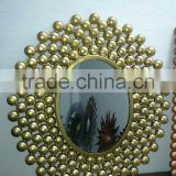 gold plated antique wall mirror