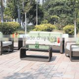 China OEM Branded high quality handmade rattan garden sofa set outdoor furniture wicker sofa manufacturer