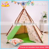 wholesale deluxe indoor play kids teepee tent natural cotton canvas children kids teepee tent W08L005