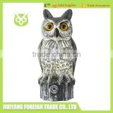 2016 hot sale plastic owl outdoor garden decor do they work