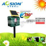 Aosion Motion Activated Ultrasonic Solar Powered Cat Bird Repellent with Rechargeable Batteries