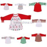 Wholesale children wear Icing Ruffle Raglan Shirt Baseball Shirt Long sleeve children's boutique clothing