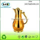 hot sell golden / Silver glass thermos vacuum flask; stainless steel kettle;double tea kettle