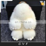 Factory direct supply real mink fur pendant cute Copenhagen rabbit charm