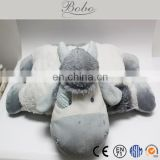Knight Quality Grey Cow plush animal cushion for kids