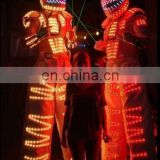 led jumping suit stilts walker led robot costume