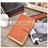 factory manufacture customized Printing A5 brown leather offset paper notebook pocketbook printing