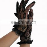 Short floral lace gloves