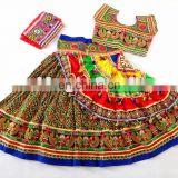 Navratri ghagra choli - Girls Traditional Chaniya choli- Gujarat Hand Embroidered Sanedo Chaniya Choli-