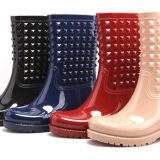 Vogue Women PVC Rain boots, Ladies's Rain boot, Popular Style boot, New Fashion Women boots