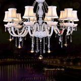 Modern Style White Crystal Chandeliers Modern LED Chandeliers For Living Room  Wedding decorat
