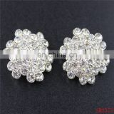 Wholesale Ex-factory price metal fashion rhinestone buttons