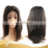 Hot sale factoty price full lace Brazilian human hair wig straight