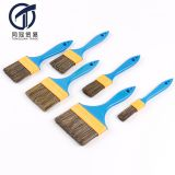 Many size synthetic fiber paint brush with plastic handle