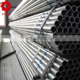 painted gi thread hot dipped steel pipe/pre galvanized round pipe/gi tube with clamp threaded pipe