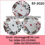 Alibaba Express Ceramic Round Personalized Soup Plate with Custom Design