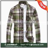 Original equipment manufacture price print man shirt/2015 casual shirt for man/long sleeve plaids shirt made in China