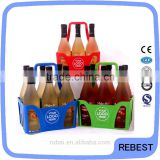 Plastic 6 pack beer can holder carrier basket