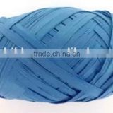 Blue Environmental Natural Material Raffia Paper Ribbon Bow, Christmas Tinsel Ribbon for Gift Wrapping