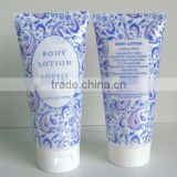cosmetic flexible tube packaging for body lotion offset printing with filp top cap