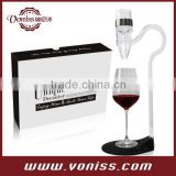 2015 Voniss Hotselling New Red Wine Aerator Pour Spout Wine Decanter Pourer Aerating, Color Box Packing
