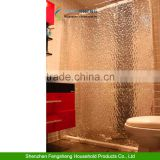 New Clear Thicker PEVA Diamond 3D Water Cube Mold Water Bath Shower Curtain