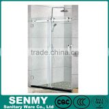 rectangle sliding opened easy clean glass folding glass 3 sides glass towel bar plastic shower door hinges