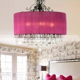 Zhongshan new luxury pendant hanging led red crystal chandeliers