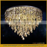 Manufacturer wholesale luxury K9 crystal ceiling lamp, hotel living room crystal ceiling light