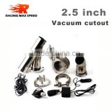 wholesales 2.5inch exhaust cutout remote control with vacuum actuator y pipe bypass electric exhaust cutout