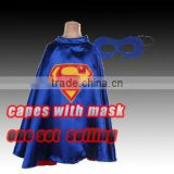 2016 Fashion Superhero cape with masks,Wholesale children 100% sateen capes with lining kids party costume cloak                                                                         Quality Choice