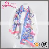Silk Personalized Digital Printing Ladies' Silk Scarves Women Chiffon Scarf