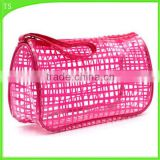 travel plaid washing bag PVC transparent cosmetic bag with handle                                                                                                         Supplier's Choice
