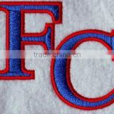 professional high quality letter FC design 100% embroidery patches,embroidery letter patches for custom soccer jersey