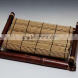 Bamboo Trays with 4 Placemats