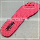 Breathable mesh fabric EVA heat moldable insole for lady sport shoes