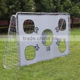 Portable shooting target metal frame football soccer goal