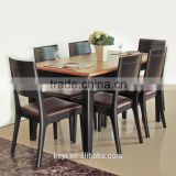 Comfortable modern style wooden design restaurant sets/dining table and chair(DT-1084-OAK,CH-310)