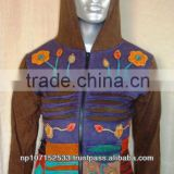 cotton jerseycotton jersey patch hand embroidery work and razor cut jacket price 680rs $8.05