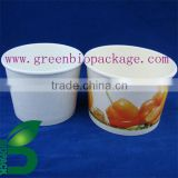 Compostable pla coated paper eco friendly container for food