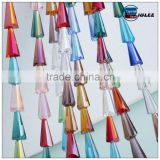 Pujiang factory price loose beads tower shape AAA quality crystal beads wholesales colorful glass beads for home decor