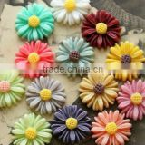 Mixed colors small sunflowers resin cabochons flowers beads! Jewelry flatback resin flowers cabochons wholesales