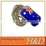 Customized Zhejiang manufactur Metal blank military dog tags with 3D engrave logo